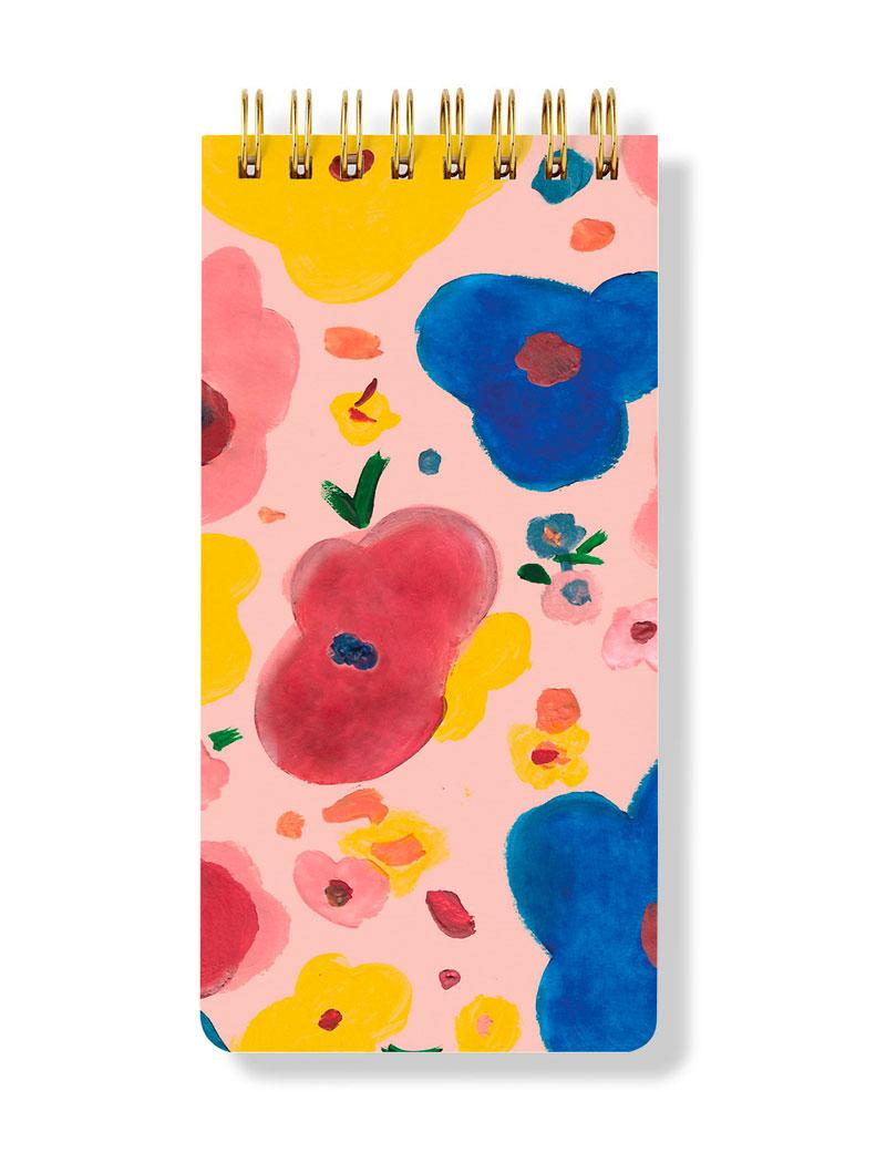 Çiçekli Spiral Bloknot - Floral Spiral Notepad