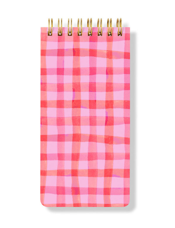 Kareli Spiral Bloknot - Checkered Spiral Notepad