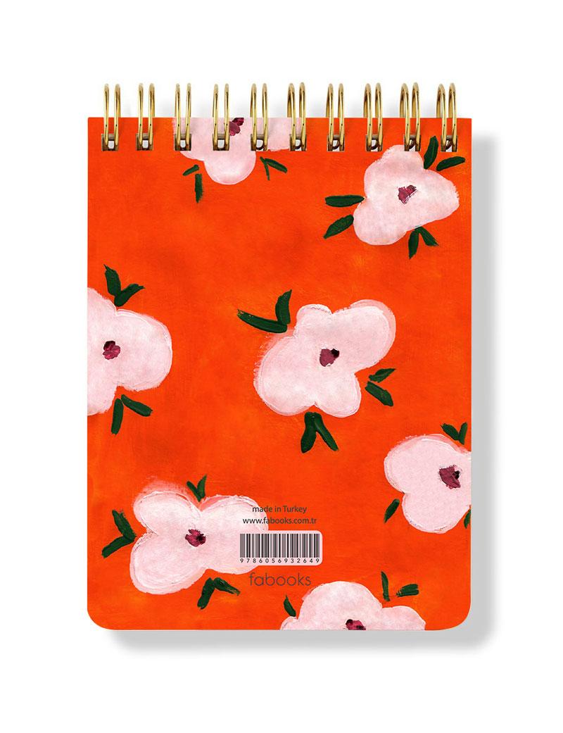 Turuncu Notepad Arka