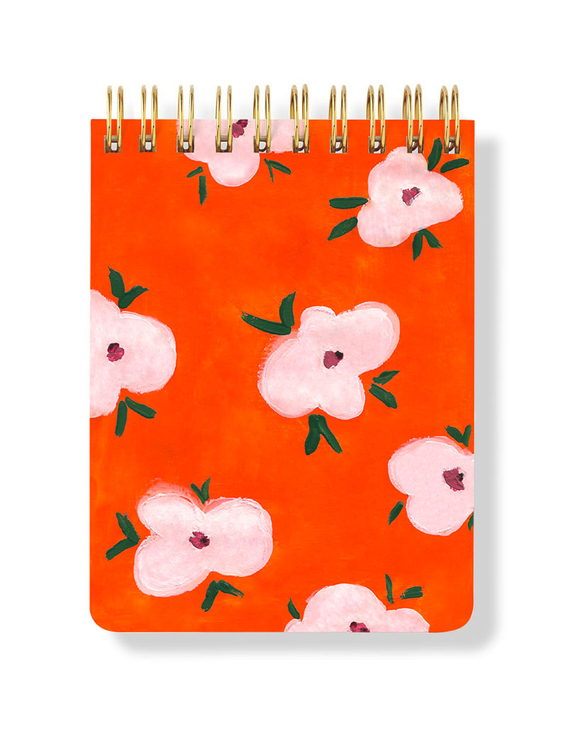 Turuncu Spiral Bloknot - Orange Spiral Notepad