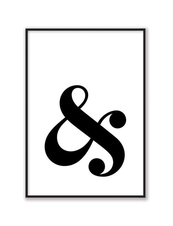 Ampersand Duvar Tablosu