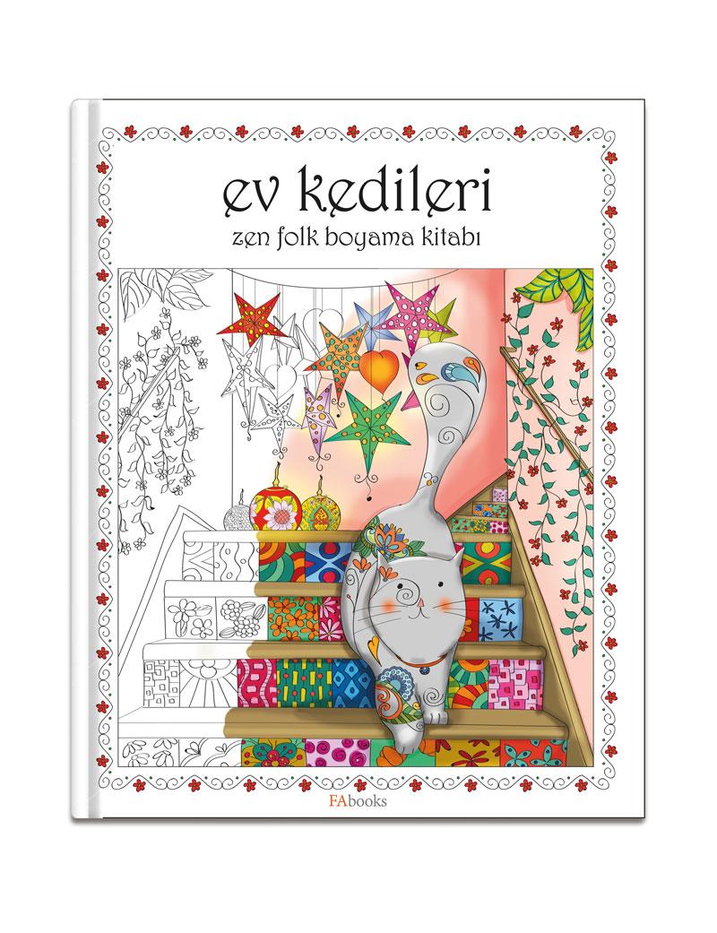 Ev Kedileri – Zen Folk Boyama Kitabı
