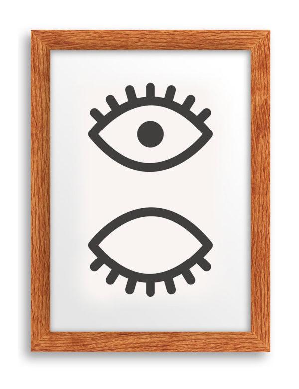 Göz ve Kirpik Duvar Tablosu
