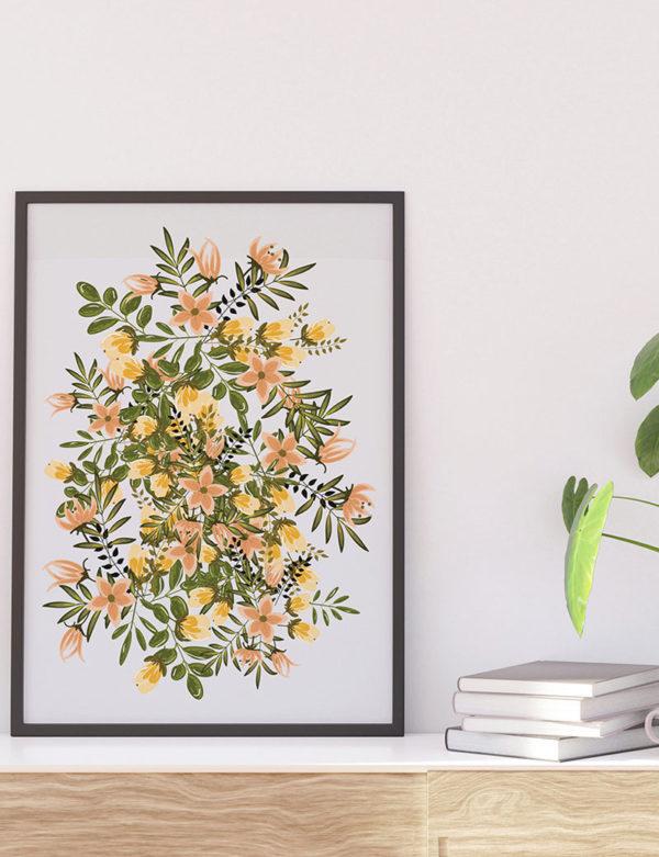 Sarı Çiçek Duvar Tablosu