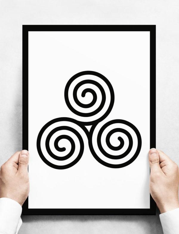 Triskelion Celtic Ruh Poster