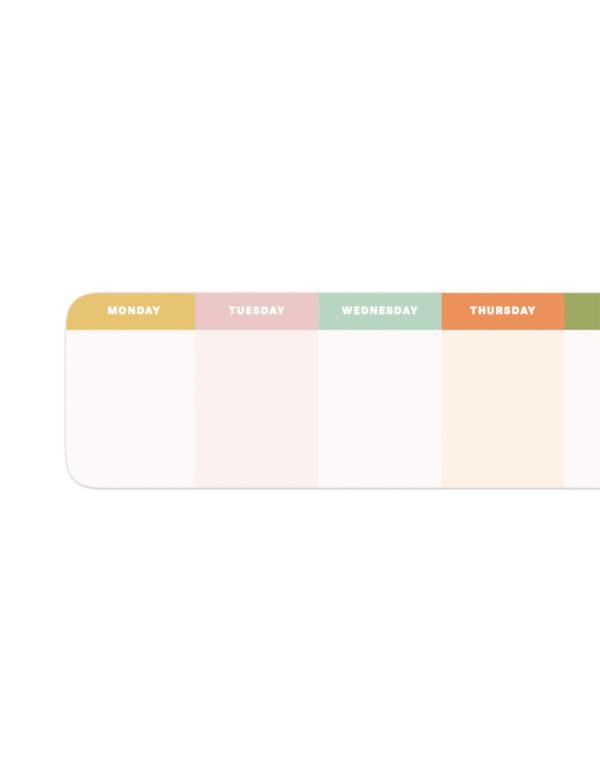 Renkli Haftalık Planlayıcı Bloknot