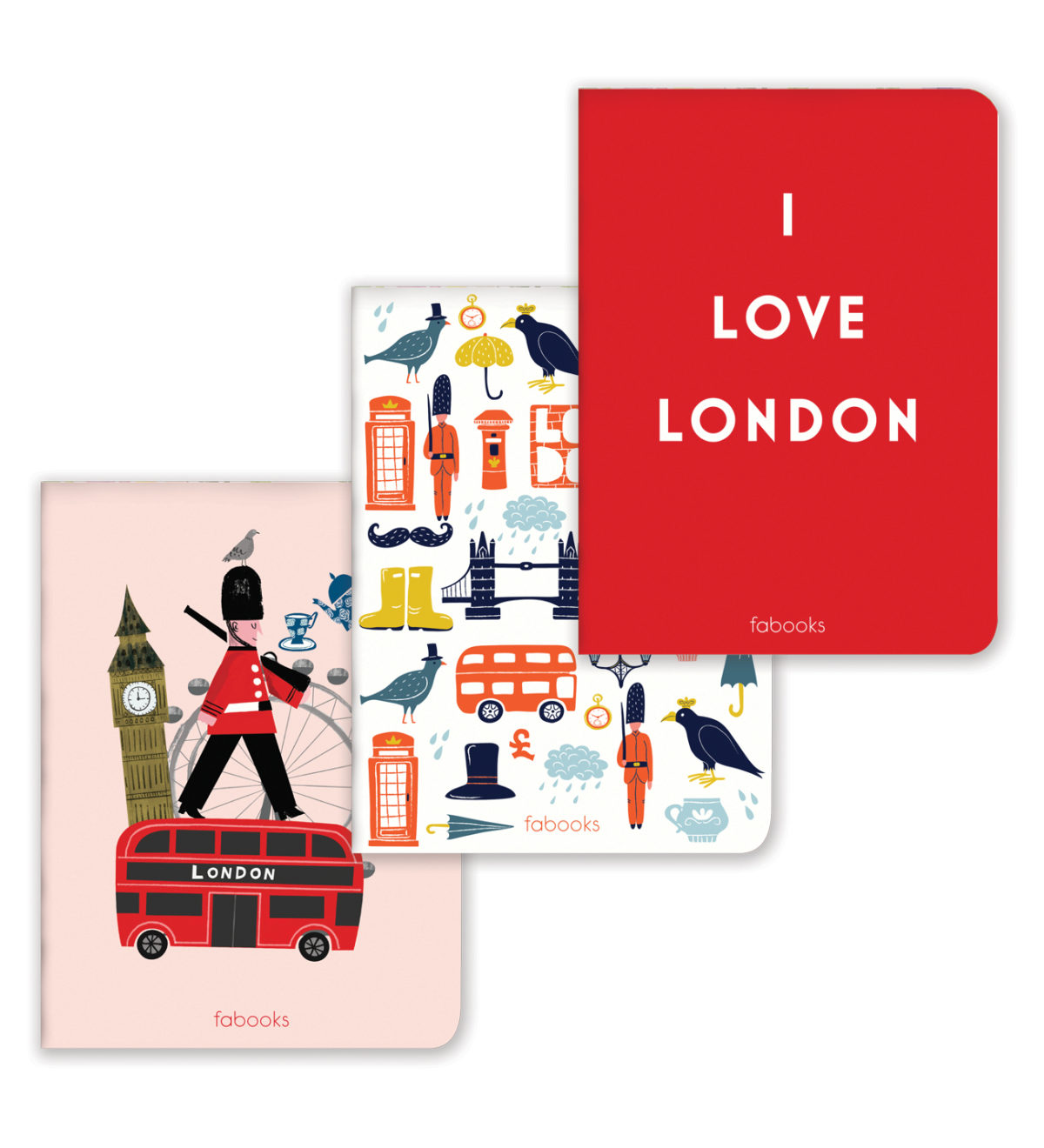 London 3'lü Midi Defter Seti
