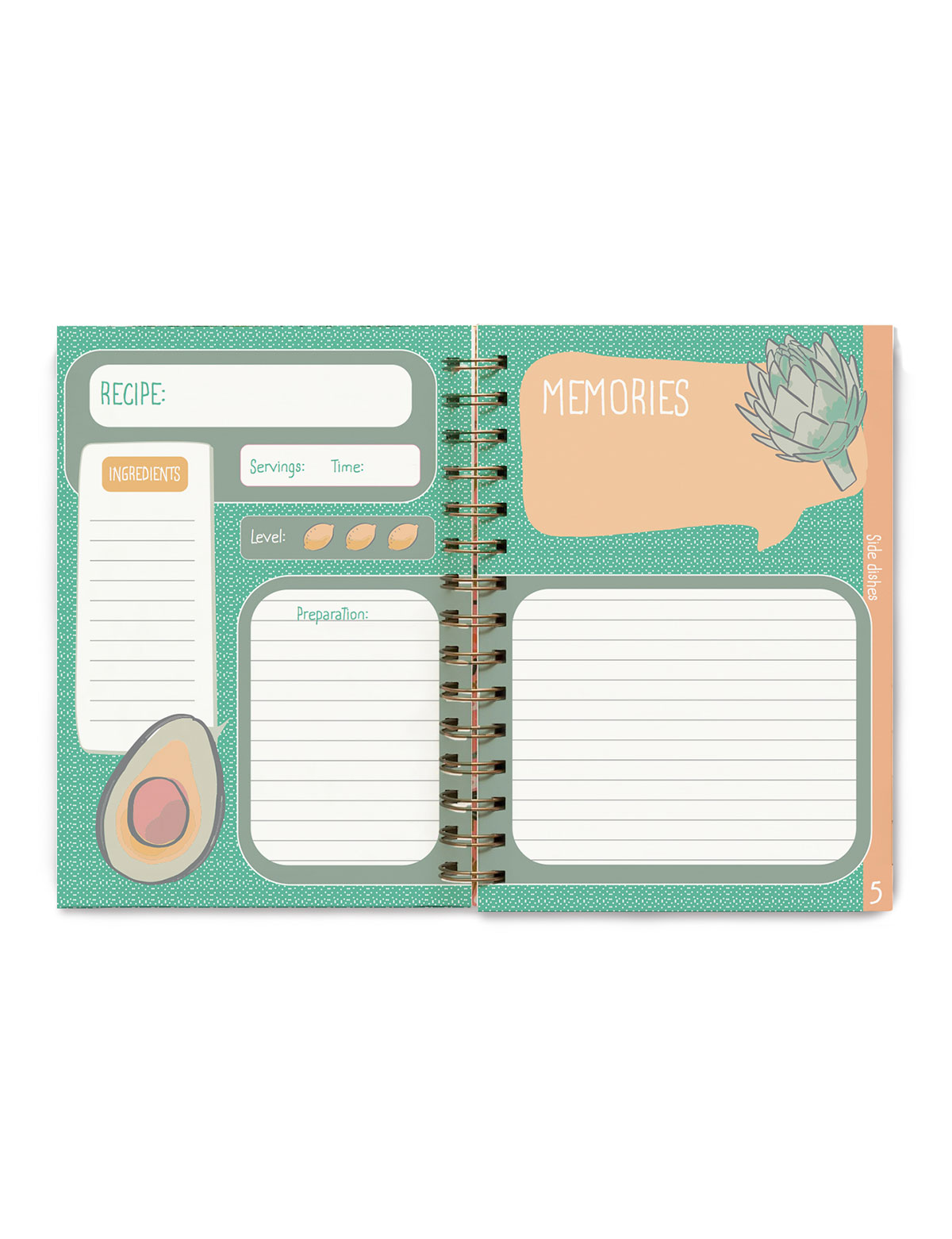 İngilizce Tarif Defteri - Recipe Notebook